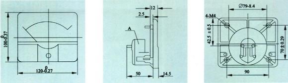 59c2-a直流电流表 启动柜专用指针式电流表