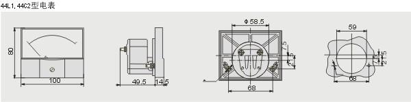 温州东保电气有限公司专业研发、生产、销售控制与保护器(RMKBO)、剩余电流式火灾监控探测器、双电源自动转换开关、智能断路器、多功能电力仪表、船用电力仪表、指针式电力仪表、44C2-A直流电流表等多种高低压电器设备。我公司注重产品质量,严格把控产品质量关;更注重产品售后服务,让您毫无后顾之忧。质量过硬,价格实惠。  指针式电焊机用44C2-A直流电流表尺寸图:  主要技术参数: 44L1-A交流电流表 0.