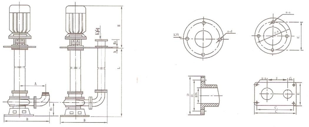液下泵】结构示意图