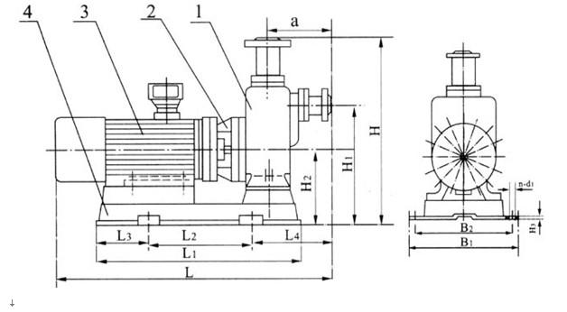 【ZWL直联式不锈钢自吸泵】,【ZWL直联式防爆自吸泵】,【ZWL不锈钢防爆自吸泵】等,用直联式结构与国内同类产品相比,具有以上说明的诸多优点,在排污泵系列产品中属国内首创。各项技术性能指标居国内领先,达到国际先进水平,具有广阔的应用市场和发展前景。 【直联式自吸泵】/【直联式无堵塞排污泵】型号说明: 100 ZWL 80 -80 P B ↓ ↓ ↓ ↓ ↓ ↓→自吸泵带防爆电机 ↓ ↓ ↓ ↓