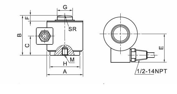 tq-h4柱式称重传感器