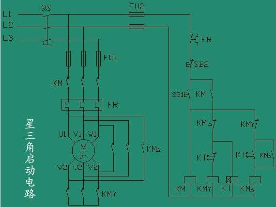 星三角启动柜电路图_消防-水泵控制柜工作原理-消防泵一运一备控制柜工作原理图