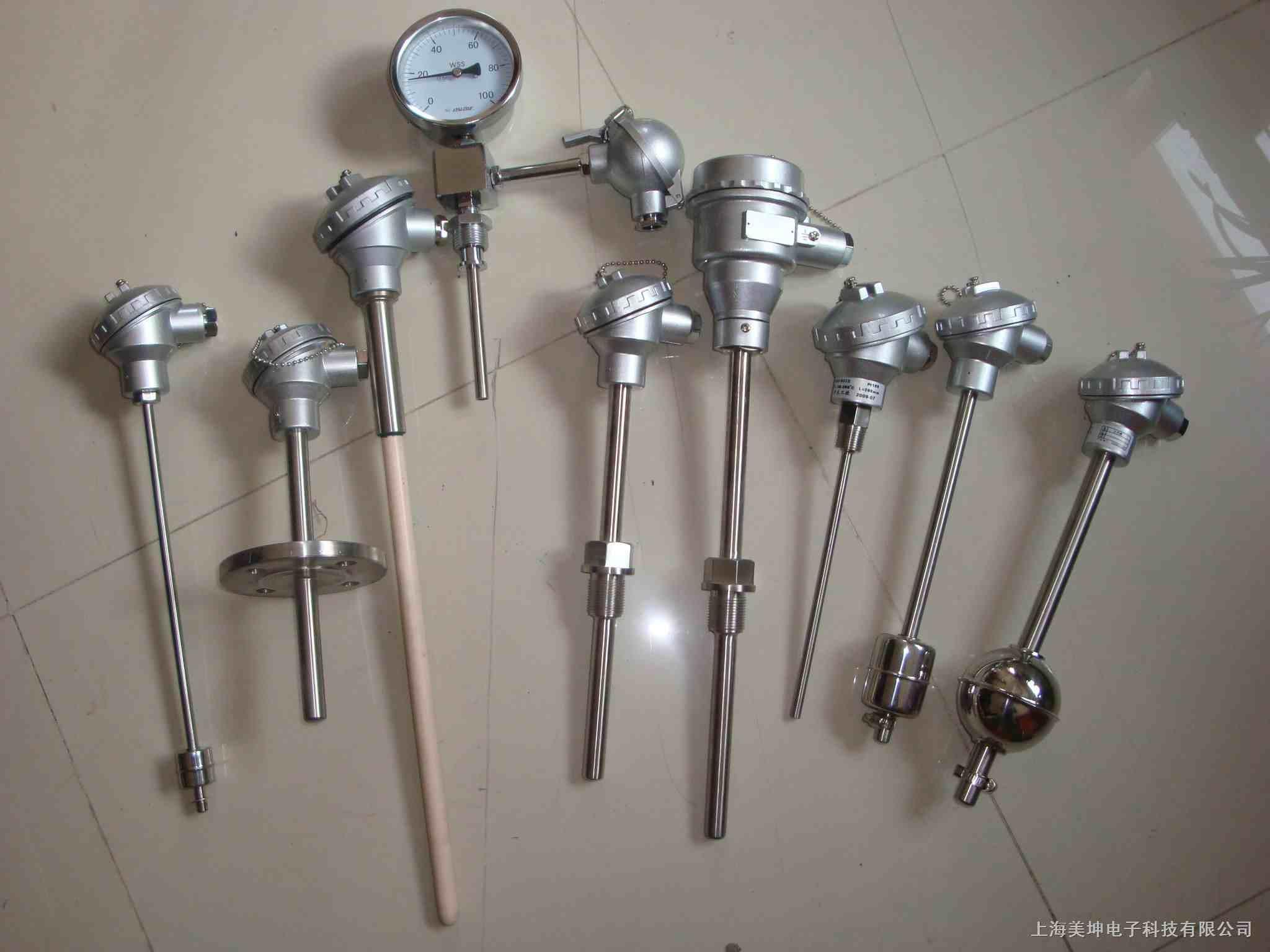 美坤电子专业制作各种非标的长杆式带法兰单点,多点液位控制浮球开关