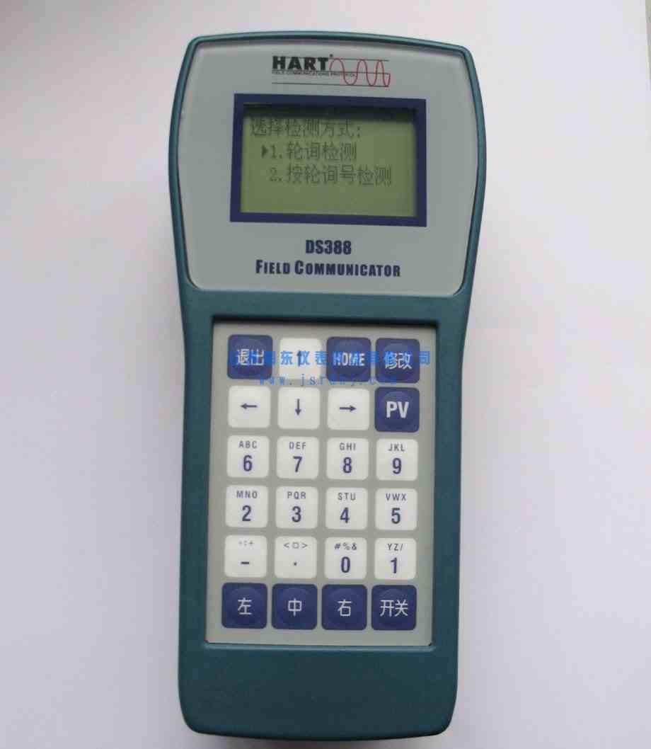 关键词: 公司名称:江苏润东仪表科技有限公司 公司网址:http://www.jsrdkj.com RD-338 HART手操器是一种便携式的终端,它与采用HART通信协议的仪表一起使用,对其进行设定,更改和显示,它可监控输入/输出值和自诊断结果,设定恒定电流的输出和调零。当系统开动或维持操作时,只要把RD-388HART手操器接在4~20mA通信信号线上,就可以使用。 产品特点: 1.