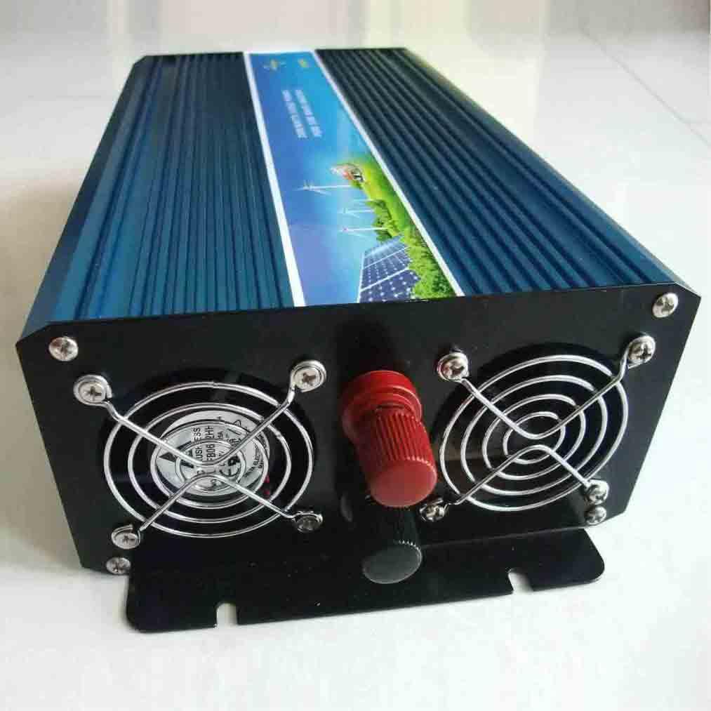 纯正弦波逆变器1000W,输入DC48V(42-60V)或120V(100-120V),输出100/110/120VAC或220/230/240VAC。 美赞电子纯正弦波逆变器 产品特性: 1)使用先进的双CPU单片机智能控制技术,具有高可靠性、低故障率的特点; 2)纯正弦波输出,带负载能力强,应用范围广; 3)具有完善的保护功能(过负载保护、内部过温保护、输出短路保护、输入欠压保护、输入过压保护等),大大提高产品的可靠性; 4)体积小、重量轻,内部采用CPU集中控制、贴片技术,使得体积非常小、重量轻;