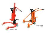 上海YTC系列国产手动液压油桶搬运车|纸筒型液压搬运车