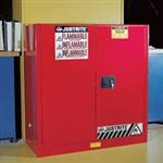 进口Justrite 40加仑红色可燃品安柜,黄色易燃液体安柜,蓝色腐蚀液体安柜报价