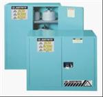 进口Justrite实验室腐蚀性化学品蓝色储藏柜,黄色易燃液体安柜,红色可燃品安柜使用