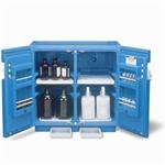 进口Justrite实验室腐蚀性化学品蓝色储藏柜,黄色易燃液体安柜,红色可燃品安柜