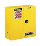进口Justrite 30加仑黄色易燃液体安柜,红色可燃液体安柜,蓝色腐蚀液体安柜报价