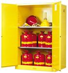 进口Justrite  45加仑黄色易燃液体安柜,红色可燃液品安柜,黄色易燃品安柜,蓝色腐蚀品安柜用途