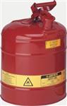 Justrite19L I类红色钢制易燃液体安罐|易燃品防火安罐|钢制安储存罐原理