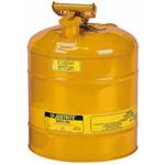 Justrite19L I类黄色钢制易燃液体安罐|易燃品防火安罐|钢制安储存罐原理