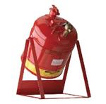 Justrite19L倾斜式实验室用安分装罐,上海旦鼎供应易燃品防火安罐,钢制安储存罐
