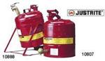 Justrite19L  安架式易燃腐蚀性液体安罐,易燃品防火安罐,耐腐蚀安罐的使用