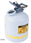 Justrite9.5L 非易燃的腐蚀性液体聚乙烯安罐,非易燃品聚乙烯安罐,耐腐蚀安罐价格