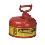 Justrite7.5L  I类红色钢制安储存罐,易燃品防火安罐,易燃液体安罐原理