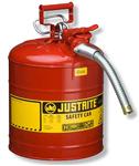 Justrite7.5L II类带软管易燃品钢制防火安储存罐,上海旦鼎易燃液体安罐