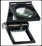 10倍三折式放大镜 三折式金属框带指针10倍放大镜