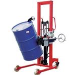 称油漆的油桶车秤,液压升降带打印倒桶车称