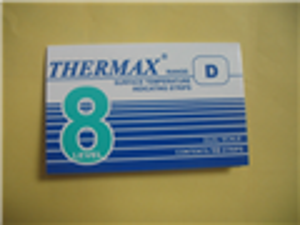 8格D型热敏试纸TMC 英国温度美Thermax温度试纸160-199度温度纸